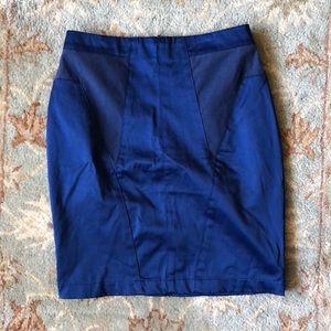 Anthropologie blue mini skirt size 2